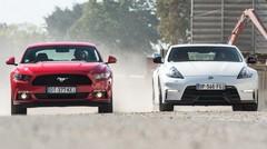 Essai Ford Mustang vs Nissan 370Z : des chevaux à doux prix