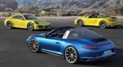 Nouvelles Porsche 911 Targa et Carrera 4 2016 : le turbo se met en 4