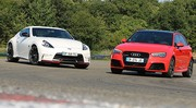 Essai Audi RS3 vs Nissan 370Z Nismo : Moteur contre Châssis