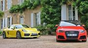 Essai Audi RS3 vs. Porsche Cayman GT4 : Sportivités opposées