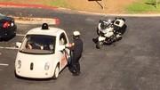 Une Google Car arrêtée par la police