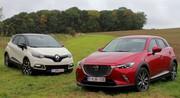 Essai Mazda CX-3 vs Renault Captur : Victimes de la mode ?