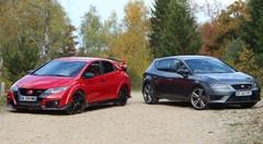 Essai Honda Civic Type R vs Seat Leon Cupra : Les reines du Ring