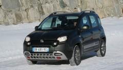 Essai gamme Fiat 4x4 : Panda, Panda Cross et 500X à la neige