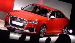 L'Audi RS3 Berline en avance