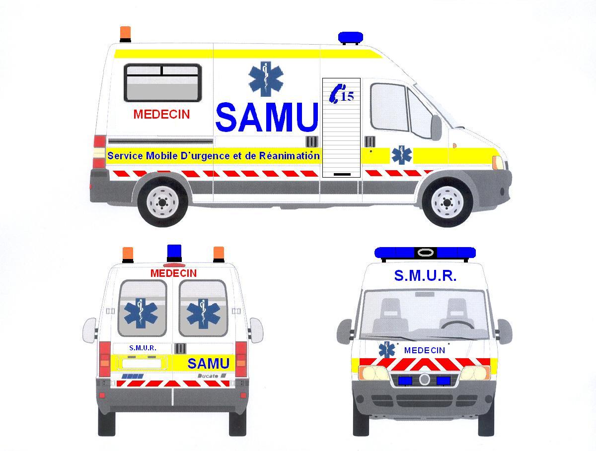 Coloriage Camion Samu.Vehicules Samu Et Smur Reanime Page 16 Auto Titre