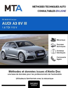 MTA Audi A3 III 3 portes phase 2