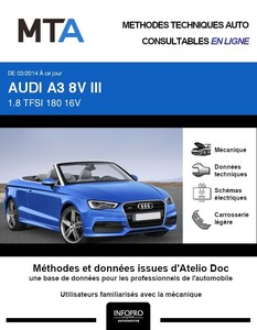 MTA Audi A3 III (8V) cabriolet phase 1