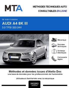 MTA Audi A4 IV (B8) berline phase 2
