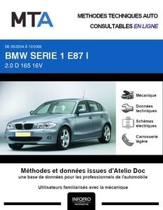 MTA BMW Série 1 I (E87) 5p (E87) phase 1