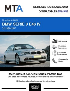 MTA BMW Série 3 IV (E46) coupé phase 2