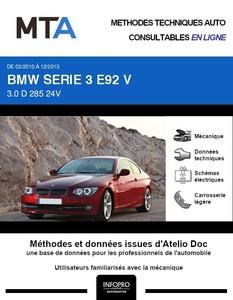 MTA BMW Série 3 V (E92) coupé 2 portes phase 2