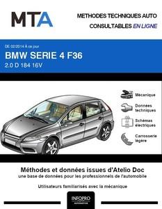 MTA BMW Série 4 I (F32) Gran Coupé (F36) phase 1