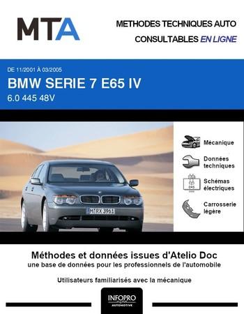 MTA BMW Série 7 IV (E65) berline phase 1
