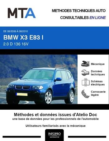 MTA BMW X3 I (E83) phase 2