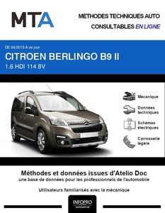 MTA Citroën Berlingo II 4 portes phase 3