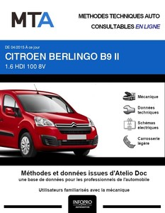 MTA Citroën Berlingo II Fourgon 4 portes phase 3