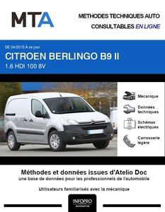 MTA Citroën Berlingo II Fourgon 5 portes phase 3