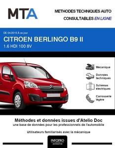 MTA Citroen Berlingo II fourgon 5p phase 3