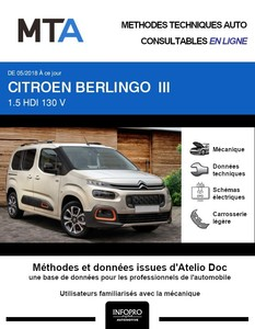MTA Citroën Berlingo III 5 portes