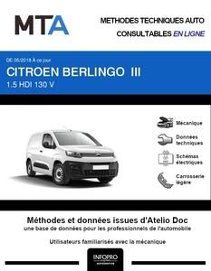 MTA Citroën Berlingo III Fourgon 4 portes