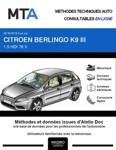 MTA Citroën Berlingo III fourgon 3p