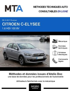 MTA Citroën C-Elysée berline phase 2