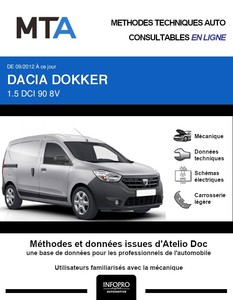 MTA Dacia Dokker  fourgon 4p phase 1