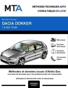 MTA Dacia Dokker  fourgon 5p phase 2