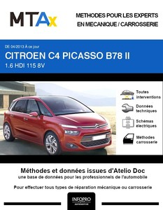 MTA Expert Citroën C4 Picasso II phase 1