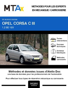 MTA Expert Opel Corsa C 3 portes phase 2