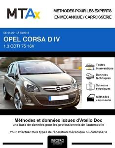 MTA Expert Opel Corsa D 5 portes phase 2