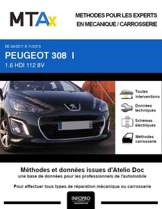MTA Expert Peugeot 308 I 3 portes phase 2