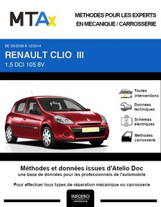 MTA Expert Renault Clio III 5 portes phase 2