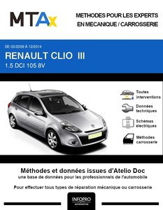MTA Expert Renault Clio III break phase 2 5 portes