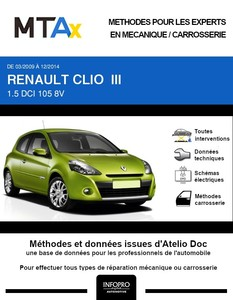 MTA Expert Renault Clio III phase 2 3 portes