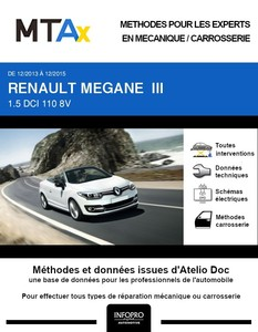 MTA Expert Renault Mégane III cabriolet phase 3