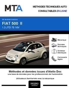 MTA Fiat 500 cabriolet phase 1