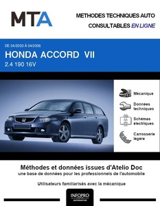 MTA Honda Accord VII  break phase 1