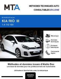 MTA Kia Rio III 3p phase 2