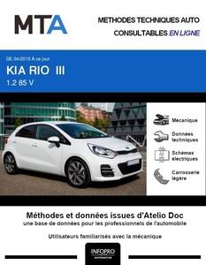 MTA Kia Rio III 5p phase 2