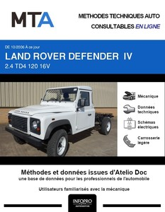 MTA Land Rover Defender I IV chassis cabine phase 2