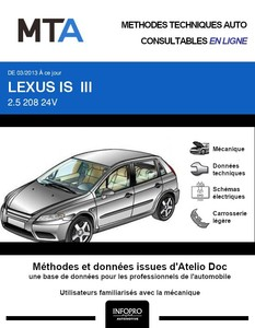MTA Lexus IS III berline phase 1
