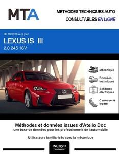 MTA Lexus IS III berline phase 2