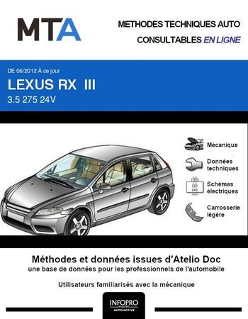 MTA Lexus RX III phase 2