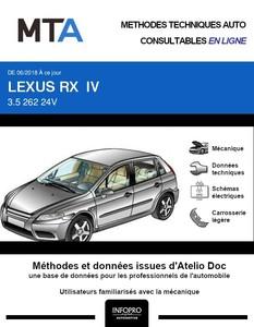 MTA Lexus RX IV phase 1