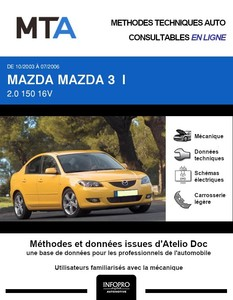 MTA Mazda 3 I berline phase 1