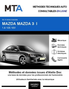 MTA Mazda 3 I berline phase 2