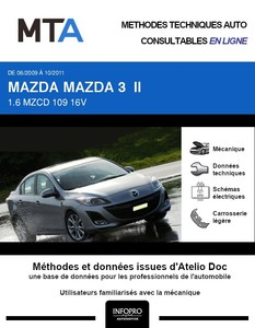 MTA Mazda 3 II berline phase 1