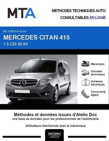 MTA Mercedes Citan fourgon 4p